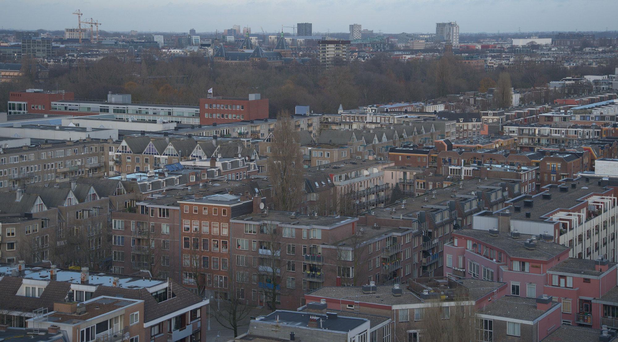 RESILIO Blauw-groene daken | Oosterparkbuurt
