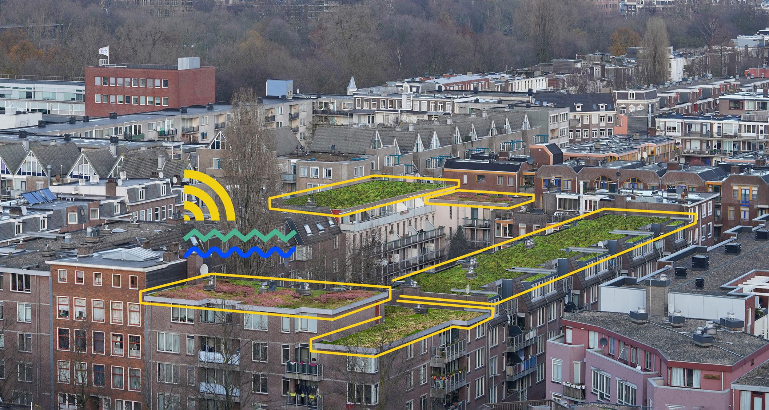 RESILIO - Blauw groene daken - Oosterparkbuurt