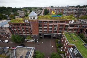 Primeur voor RESILIO-dak in Slotermeer: recycling van een oud dak bij aanleg nieuw blauw-groen dak