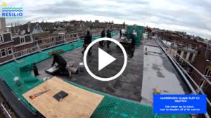 Hoe wordt een slim, blauw-groen RESILIO dak aangelegd?